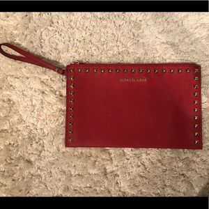 Michael Kors Red wristlet